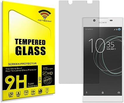 actecom® Protector Pantalla para Sony Xperia L1 Cristal Vidrio ...