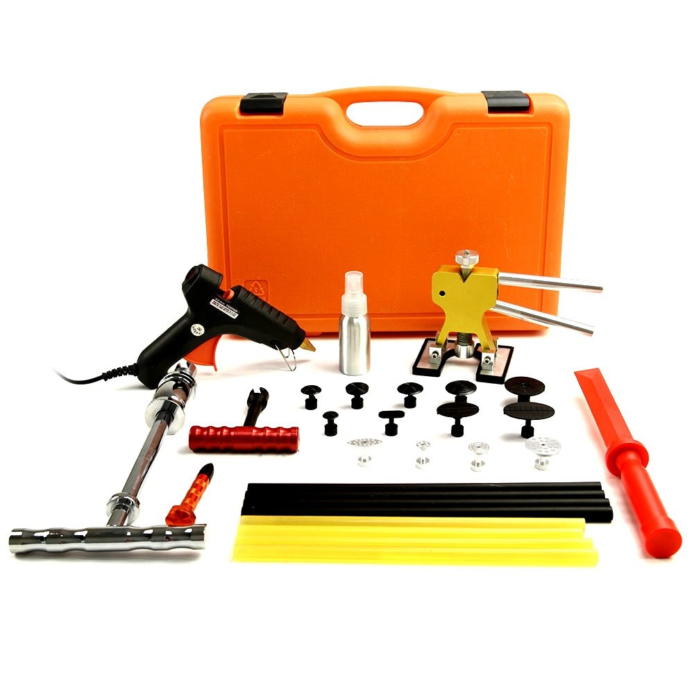 Dent Puller Complete Kit PDR Tools - Paintless Dent Repair Tools Lifter Yellow Box Hail Removal Professional Car Fixer - Skroutz