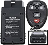 APDTY 24842 Replacement Keyless Entry Remote Key Fob Transmitter Assembly With Easy Self Programming Tool (Replaces GM Part Number 22733524 Only; You Must Have A Working Keyless Entry System)