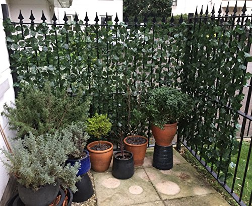 Synturfmats Faux Artificial Ivy Leaf Hedge Fencing Privacy Fence Screen Indoor/Outdoor Decoration Panels, (Chain Link Cover)