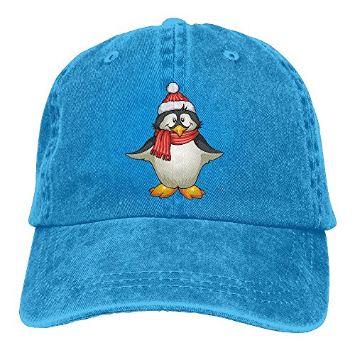 Moonmoon Unisex Santa Hat Penguin Personal Group Athletic Cowboy Cap Peaked Baseball Cap
