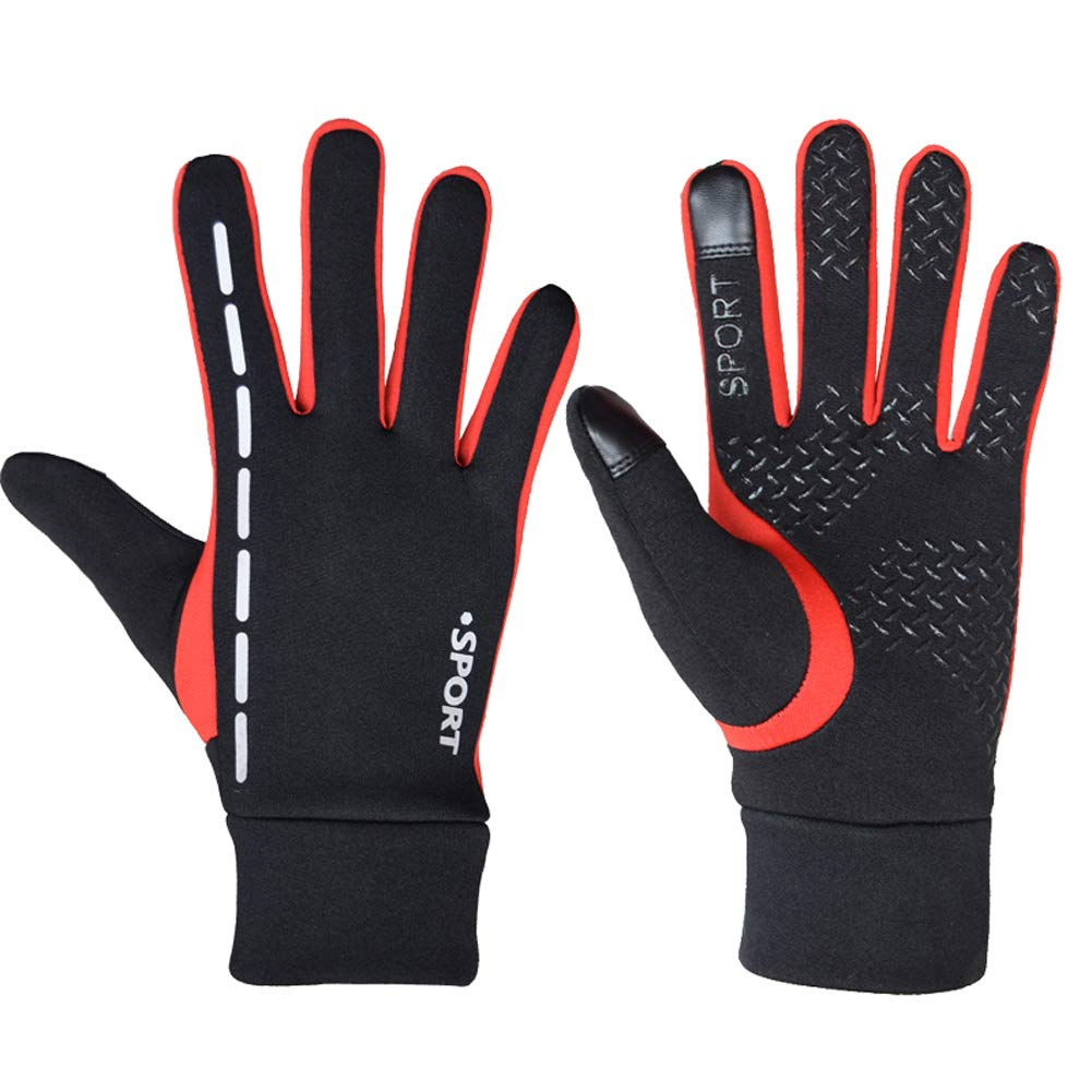Hflove Outdoor Mens Gloves Winter Warm Cycling Gloves Touch Screen Gloves Non-slip Gloves