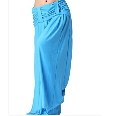 2018 Women's Comfy High Waist Wide Leg Culottes Trousers Soft Yoga Lounge Pants(7 Colors)