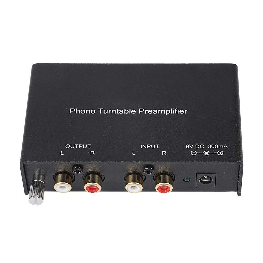 fosa Protable Phono Turntable Preamp, Mini Dual-Channel Phono Preamplifier RCA Preamplifier Output Noise Cancelling Phono Preamp for Mixer Audio Recording Device Amplifier or Something(us Plug)