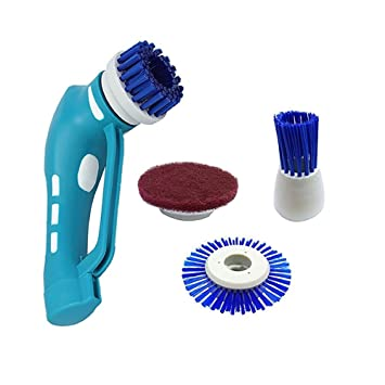 Cordless Power Scrubber Brush Functional Portable Handheld Cleaner Brush  Scrubber Cleaning Kit for Bathroom  Kitchen. Amazon com  Cordless Power Scrubber Brush Functional Portable