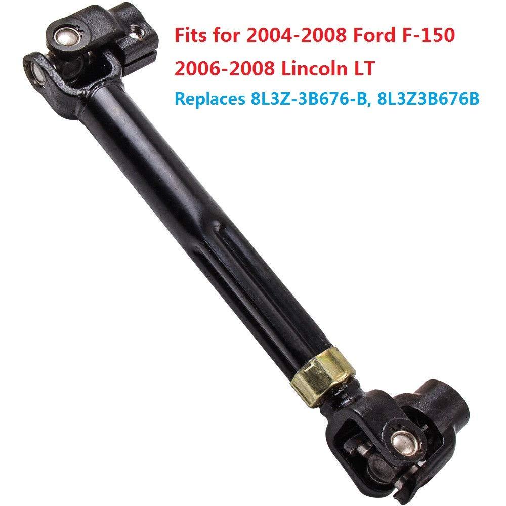 8L3Z3B676B Auto Parts Prodigy 8L3Z-3B676-B Intermediate Steering Column Shaft Assembly Rag Universal U Joint Coupling for 2004-2008 Ford F150 2006-2008 Lincoln Mark LT Replaces OE# 8L3Z-3B676-B