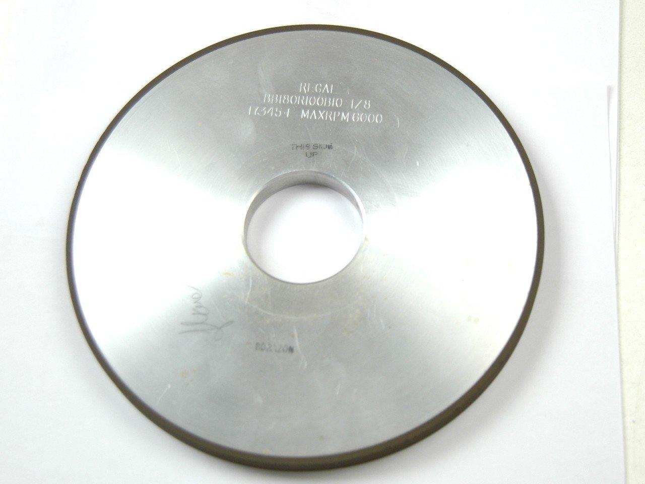 8 X 1/2 X 2 CBN GRINDING WHEEL-1A1- BB180R100B10-1/8. NEW OR LIKE NEW by REGAL DIAMOND