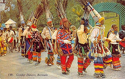 Bermuda Gombey Dancers Native People Parade Vintage Postcard K53604
