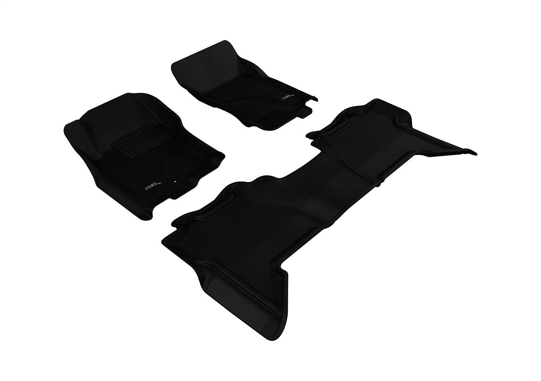 Kagu Rubber 3D MAXpider Complete Set Custom Fit All-Weather Floor Mat for Select Nissan Xterra Models Black L1NS07201509