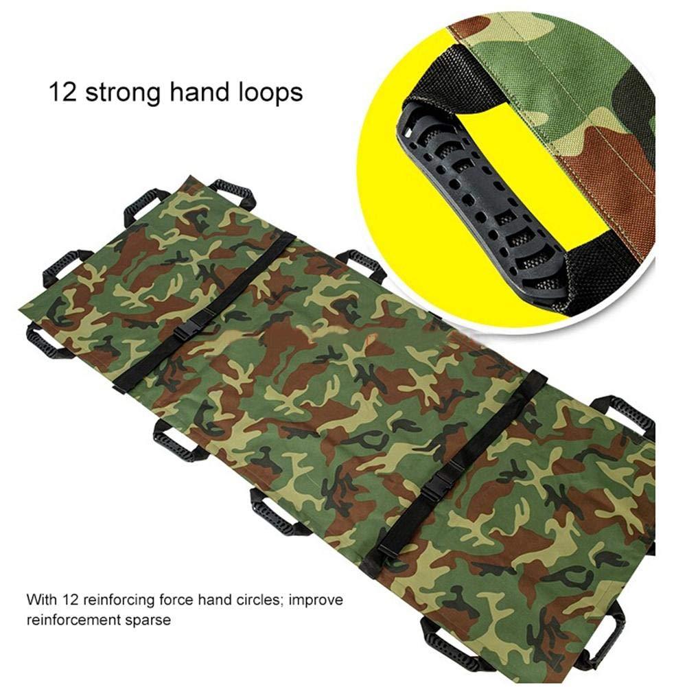 bouncevi HC Portable Stretcher Thickened Canvas Medical Stretcher with Handbag Folding Household First Aid Soft Stretcher judicious Nice