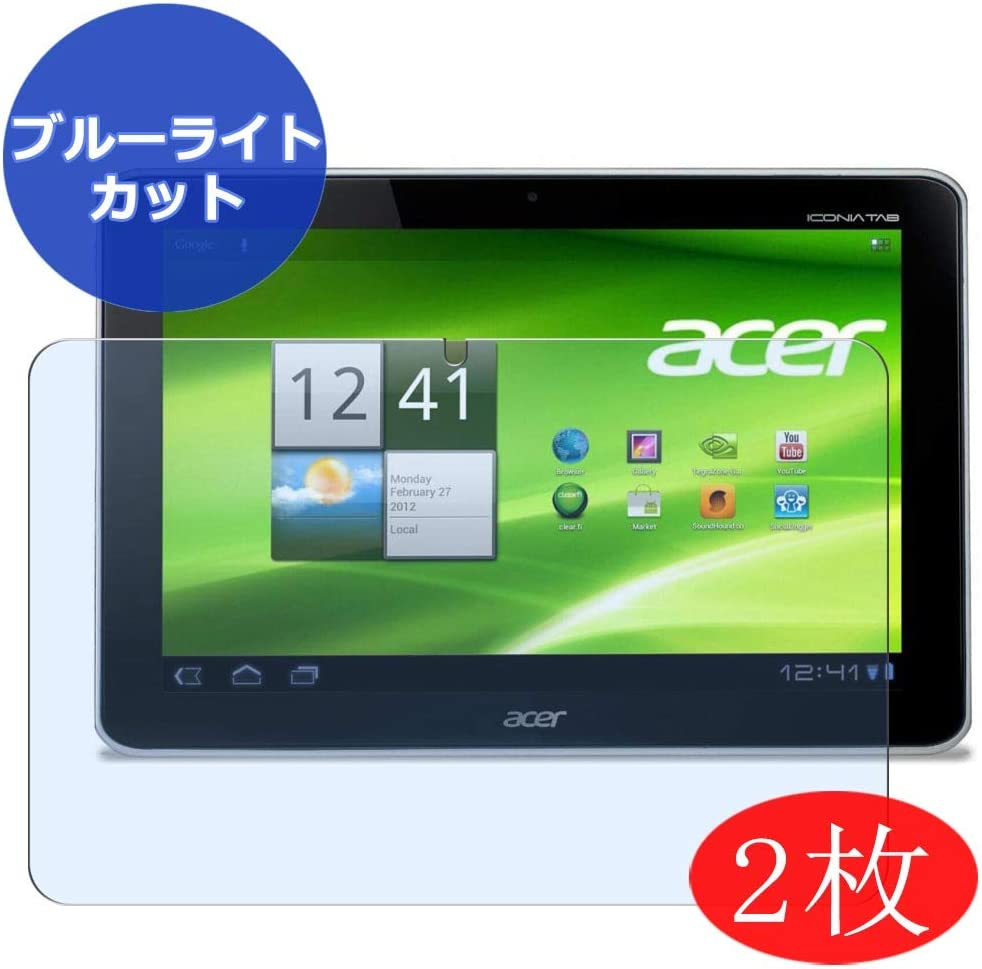 """【2 Pack】 Synvy Anti Blue Light Screen Protector for ACER iconia Tab 0 10.1"""" Screen Film Protective Protectors [Not Tempered Glass]"""