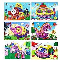 Genuiskids 3D Foam Sticky Mosaics Art Princess Butter Flies Sticker Game Crystal Craft Art Sticker Intelligent Development