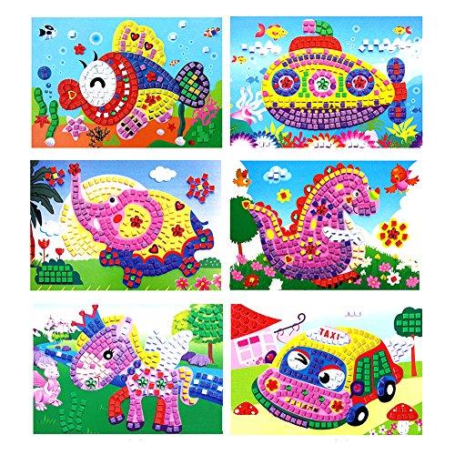 3D Foam Sticky Mosaics Art Princess Butter flies Sticker Game Crystal Craft Art Sticker Intelligent Development