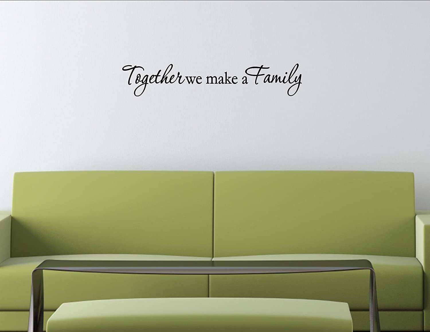 amazon com together we make a family vinyl wall decals quotes amazon com together we make a family vinyl wall decals quotes sayings words home kitchen