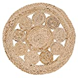 VHC Brands Coastal Farmhouse Tabletop & Kitchen-Celeste Tan Jute Tablemat Set of 6