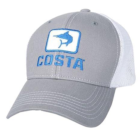 78d68e8bb4 ... ebay costa del mar marlin fitted stretch trucker hat gray white b376a  e9195
