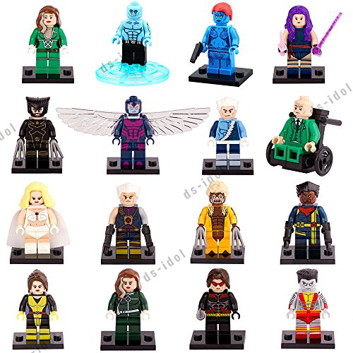 16Pcs MiniFigures Super Heroes X-Men Building Toys