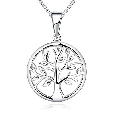 3303666151c YL Arbre de la vie Collier-en argent sterling 925 Collier pendentif arbre  de la