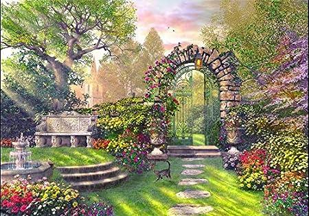 Rompecabezas De 1000 Piezas La Puerta Del Jardín Pasatiempo Decoración Del Hogar Diy: Amazon.es: Hogar