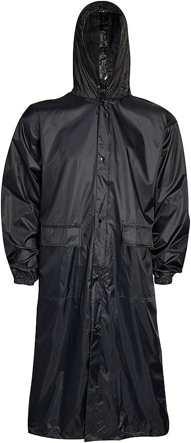 Mens Waterproof Rain Jacket Coat Country Hi-Vis Pack-away Storm S-XXL