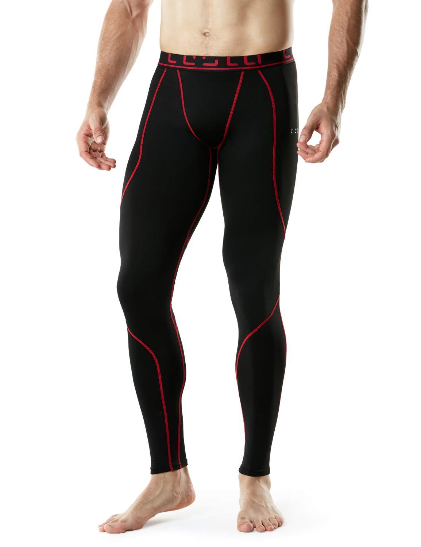 TSLA TM-YUP43-KKR_3X-Large Men's Emboss Pants Thermal Wintergear Compression Baselayer Sports Leggings YUP43 by TSLA (Image #9)