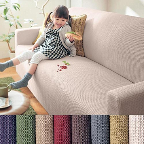 Thicken Jacquard Stretch couch covers,Waterproof Polyester spandex sofa slipcover fitted loveseat cover seat furniture protector-A 4 seaters by AMYSTOREDREAM
