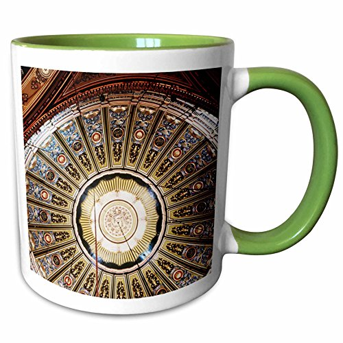 (3dRose Danita Delimont - Mosques - Egypt, Cairo, Interior of Mohammad Ali Mosque - 15oz Two-Tone Green Mug (mug_205465_12))