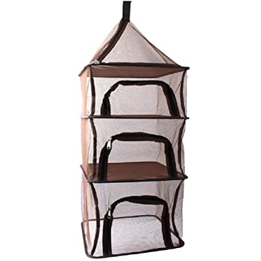 Camping Dry Net-4 Layer Outdoor Hanging Mesh Foldable Drying Rack Multipurpose Storage Organizer Dryer for Picnic/BBQ/Tableware/Dishes/Food/Vegetables/Fruit/Clothing