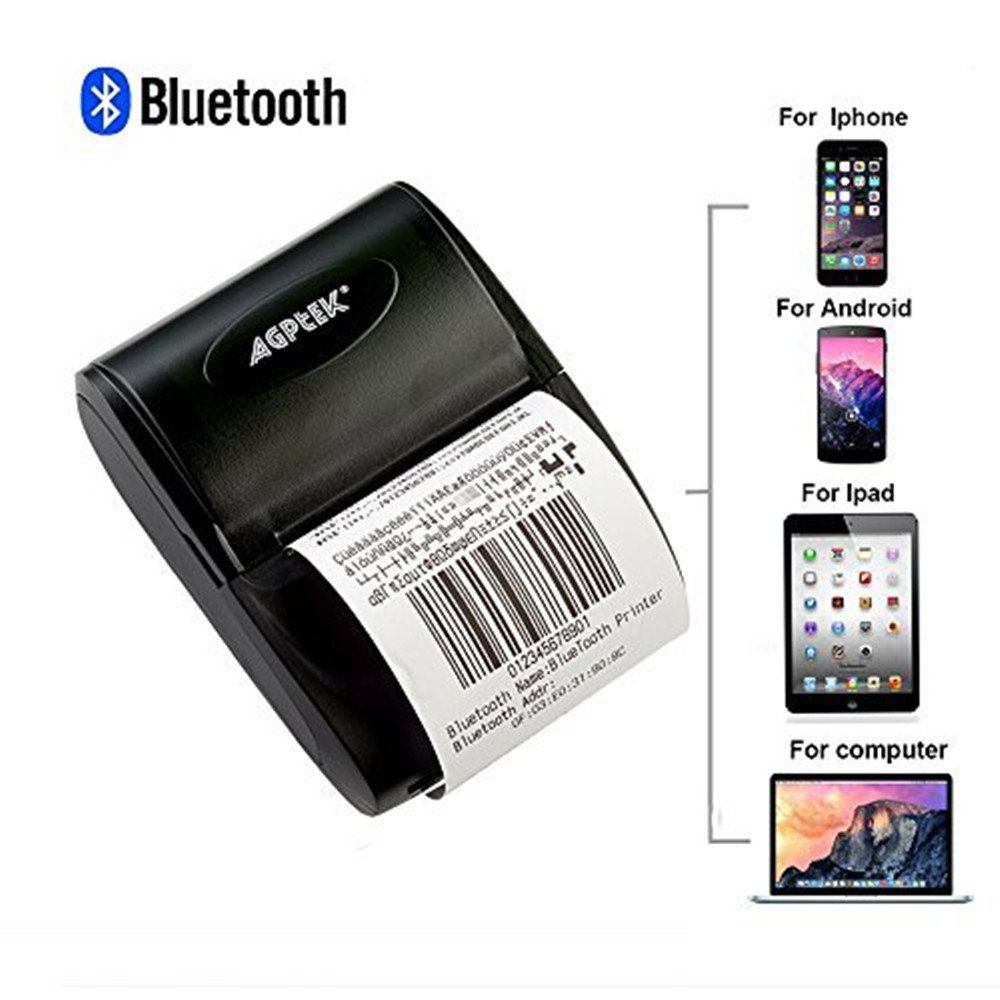 AGPtEK® - Mini impresora de recibos térmicos para Android ...