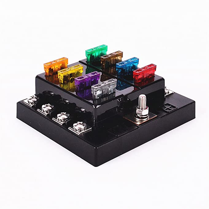 61UWN9h%2B OL._SX681_ amazon com iztoss 8 way circuit car fuse blocks box 32v dc blade Outdoor AC Fuse Box On at mifinder.co
