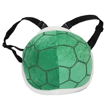 1pc Green Shell Bag Super Mario Tortoise Shell Plush Backpack Super Mario  Bros Cosplay Costume for 2c148db350f12