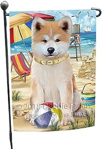 Doggie of the Day Pet Friendly Beach Akita Dog Garden Flag GFLG49774