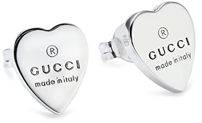 36c858801a4 Gucci Trademark YBD223990001 Sterling Silver 925 Stud Earrings   Amazon.co.uk  Jewellery