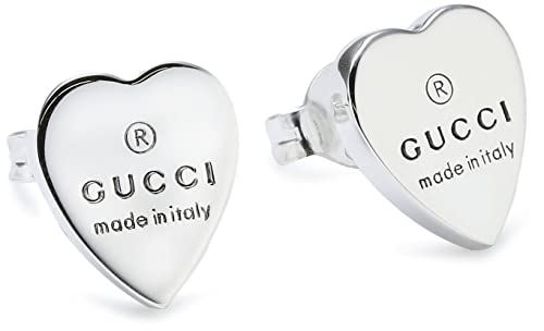 Gucci Orecchini Trademark Cuore Argento 925 Ybd223990001  Amazon.it   Gioielli 49a3f0b1a5e9