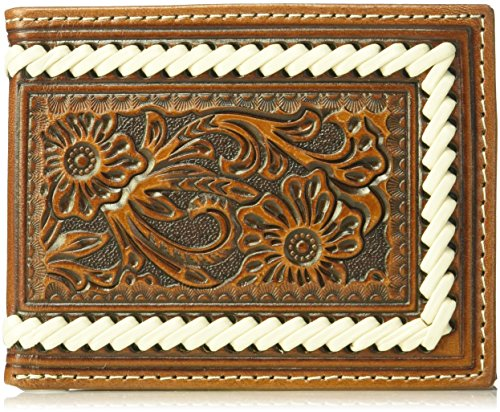 adult Edge Floral Brown Tope Floral Edge Stitch Stitch Fold unisex Bifold Bifold Ariat Wallet Ariat Ariat Tope Bi Cxq5ftnXw