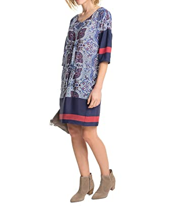 esprit collection damen kleid mit ethno muster mini all over print gr - Kleid Ethno Muster