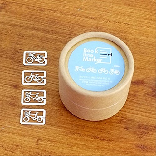 Mini Kawaii Bicycle shape 20pcs in a box /set Hollow Retro Stainless steel sheet Beaded metal bookmarks