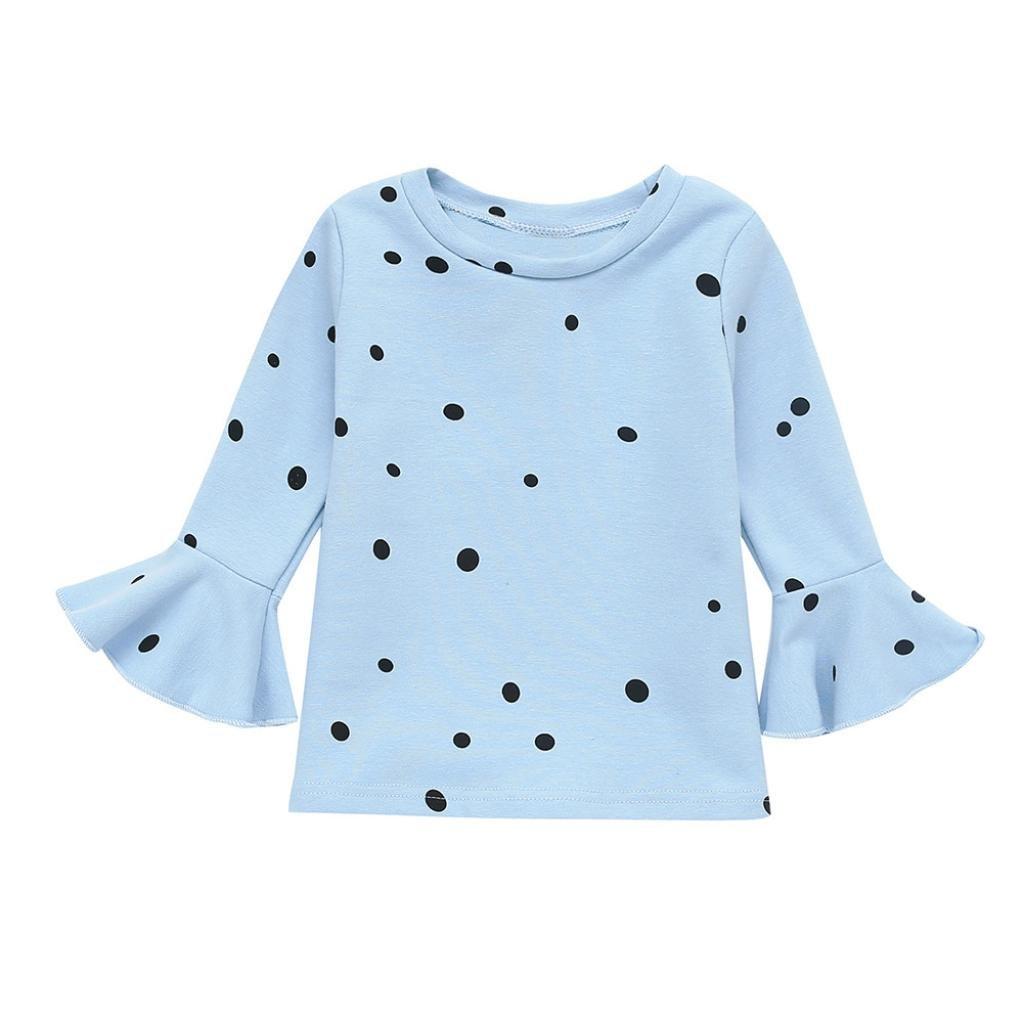 Covermason Babykleidung, Baby Mädchen Weich Lange Ärmel Punkt Kleinkind Kinder Oberteile T-Shirt Bluse Kleider Cov8503
