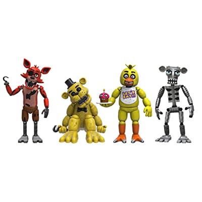 "Funko Five Nights at Freddy's 4 Figure Pack(1 Set), 2"": Funko Articulated Action Figure:: Toys & Games"