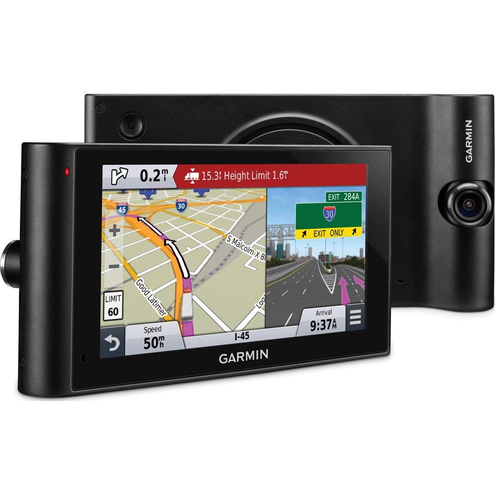 Garmin dezlCam LMTHD 6in Truck Navigator w/Dash Cam + Lifetime Map Updates (010-N1457-00) - (Renewed) by Garmin