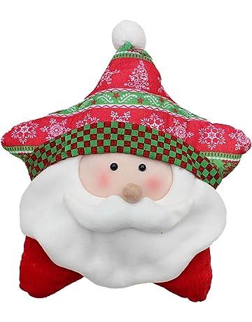 Ouken Lanzar Almohada Navidad cojín Decorativo Almohada para el hogar sofá decoración de Cinco Puntos Estrella