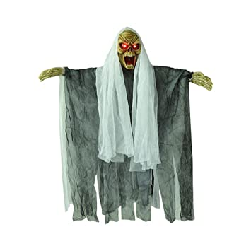 buddy halloween prop electric voice hanging skull skeleton ghost hanging halloween escape horror props decoration