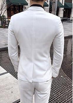 Amazon.com: sipei para hombre, color blanco solapa Prom ...