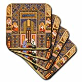 3dRose The Meeting of The Theologians-Islamic Persian Art-1540-1550 Ad by Abd Allah Musawwir-Arabian-Soft Coasters, Set of 8 (cst_162527_2)