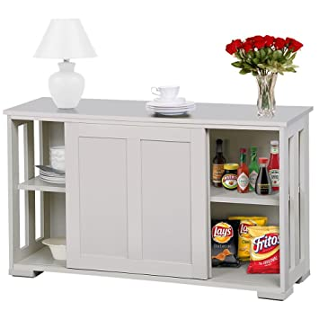 Amazon Go2buy Antique White Stackable Sideboard Buffet Storage