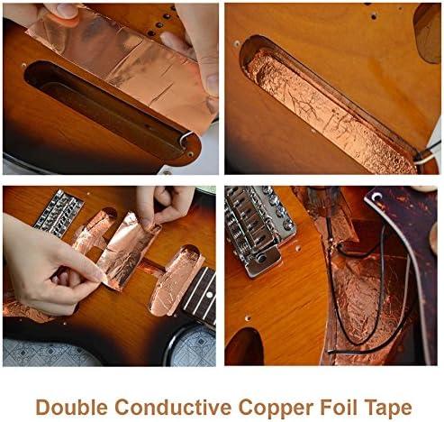 Creanoso Copper Foil Shielding Tape For Guitars Double Conductive Telecaster