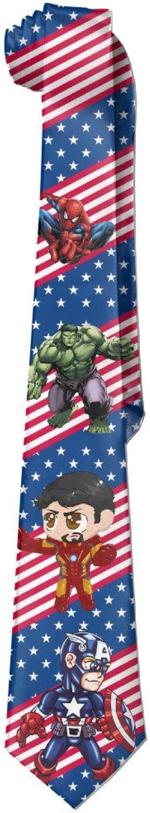 Ironman de bloque de Avengers Hulk Nueva novedad corbata Tie ...