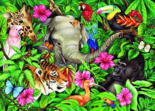 Ravensburger Tropical Friends - 60 Piece Jigsaw Puzzle for Kids - Every Piece is Unique, Pieces Fit Together Perfectly]()