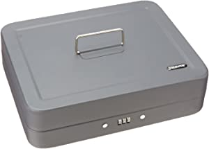 STEELMASTER Cash Box with Combination Lock and Handle, Gray (2216190G2)