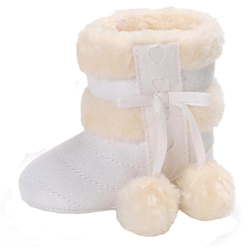 Iuhan Lovely Baby Boy Girls Soft Sole Ball Snow Boots Leisure Warm Crib Toddler Shoe